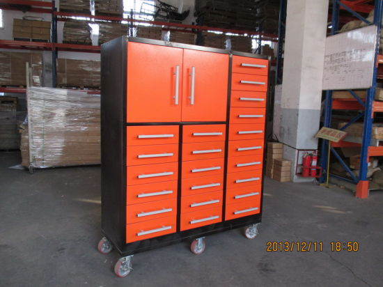 OEM Factory Wholesale Customized Metal Drawer Lockable Tools Cabinet with Casters