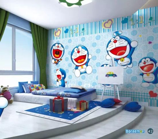 Manufactory Custom Products 3D Cartoon Fish And Brick Photo Decorating  Children Room Wall Paper Murals