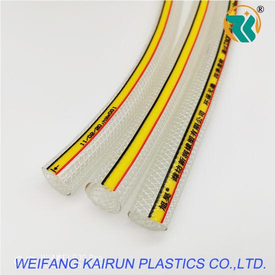 "Hot Sale 1/2"" Clear Braided Reinforced Water PVC Hose PVC Tube Flexible Hose"