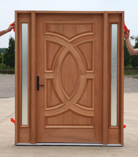 China Unfinish Carving Entry Doors Front Doors Main Entrance Wooden