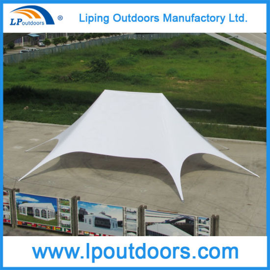 16X21m Twin Star Tent Outdoor Promotional Double Peak Star Canopy & China 16X21m Twin Star Tent Outdoor Promotional Double Peak Star ...