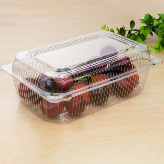 Eco-Friendly Disposable Clear Clamshell Plastic Food Packaging
