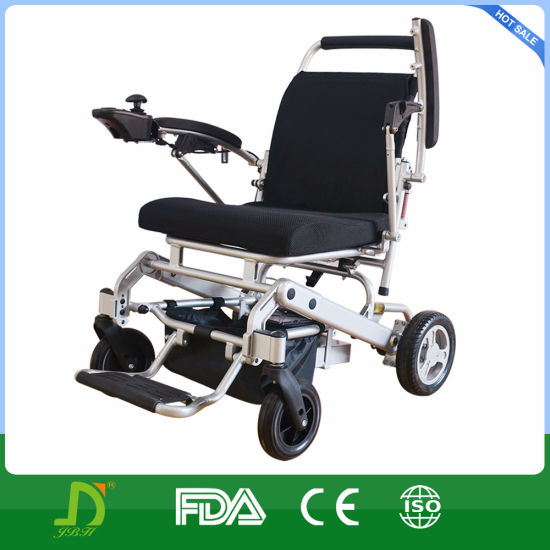 Lightweight Folding 4 Wheel Drive Magnesium Alloy Power Electric Lithium Battery Wheelchair pictures & photos
