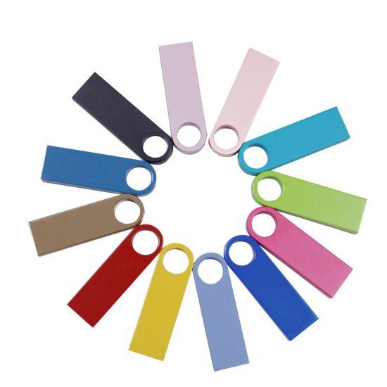 Promotional Gift Multi Color Customized Logo Metal USB 2.0 3.0 Pen Drive