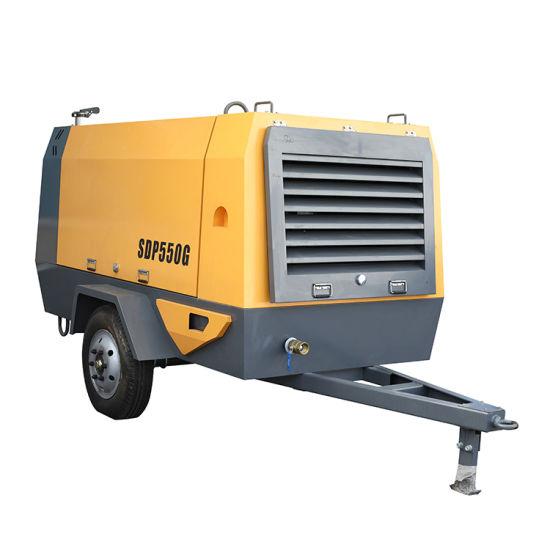 China Diesel Screw Portable Air Compressor Portable Diesel