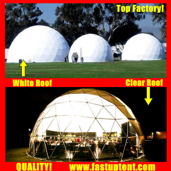 2018 New Structure Diameter 16m Geodesic Dome Tent for Festival