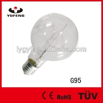 Halogen Bulbs G95, 120W, 220V, E27, 2000hrs, Clear, 95*130mm