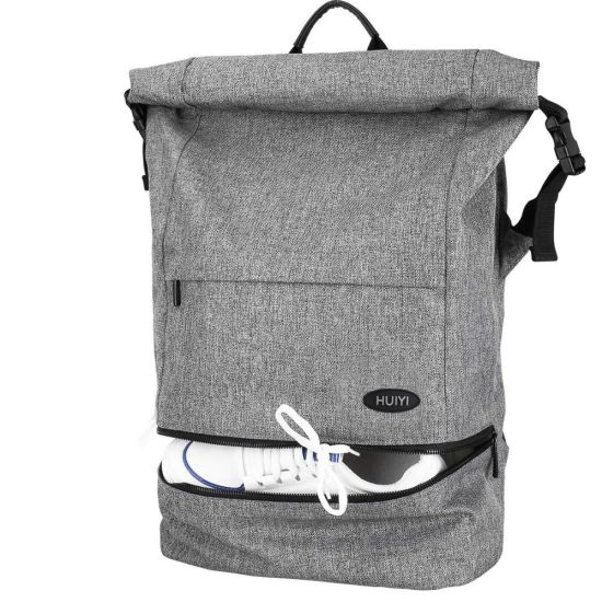 factory authentic detailed look new design China Lightweight Roll Top Anti-Theft Travel Daypack Weekend ...
