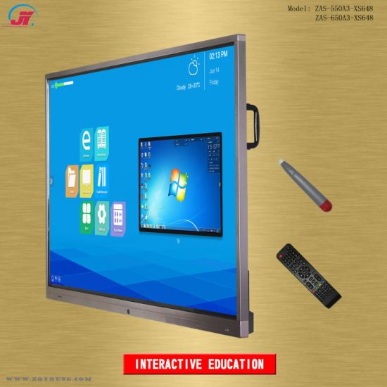 All in One 55 65 75 86 98 Inch Interactive Touch Screen Smart Electronic Whiteboard Display Flat Panel Equipment for Conference Classroom Education
