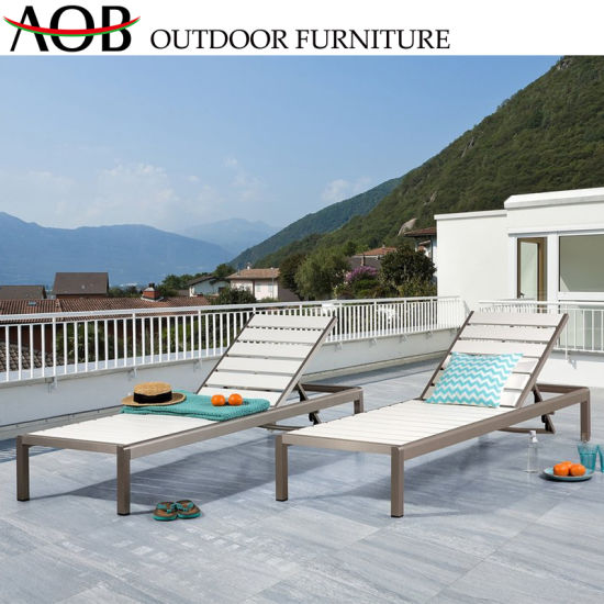 Outdoor Garden Furniture Patio Daybed Aluminium Camping Leisure Beach Lounge Chair / Recliner / Sunbed pictures & photos
