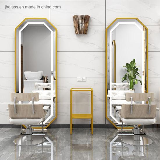Modern Salon Stainless Steel Framed LED Illuminated Lighted ...
