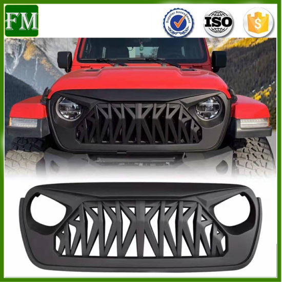 Front Bumper Grille Mesh Inserts for Jeep Wrangler Jl 2018-2019