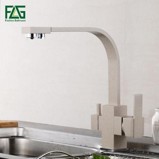 Flg Brass Pure Water 3-Way Kitchen Sink Faucet Filter Mixer