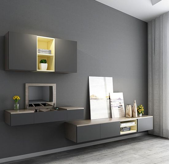 Bedroom Tv Cabinet Set Modern Contracted Wall Cabinet Dressing Table Combination