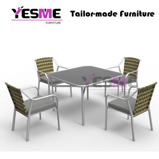 Garden Restaurant Outdoor Furniture Cafe Aluminum Polywood Chair Table Set