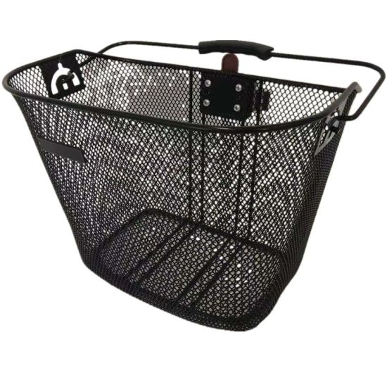 Fashion Steel Front Bicycle Basket with Steel Qr and Handle of Bicycle Parts