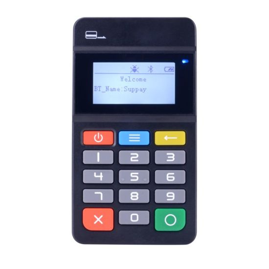 Visa EMV Smart Portable Swipe NFC Chip Card Reader Handheld POS Machine MP45 pictures & photos