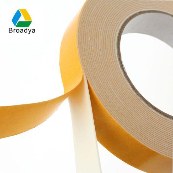High Stick Double Sided PE/Polyethylene Foam Self Adhesive Tape (BY3030)