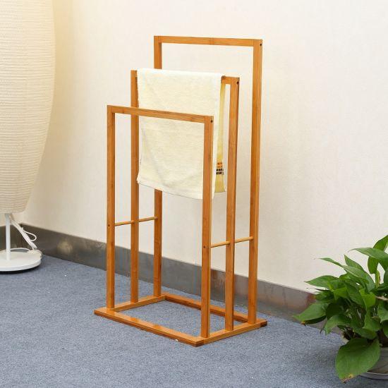 Bamboo Ladder Free Standing Towel Rack