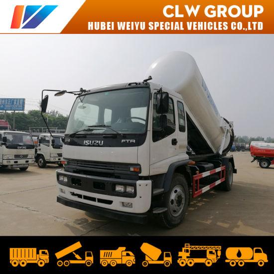 Isuzu Ftr 10000liters Sewer Vacuum Truck 10cbm Septic Suction Truck 10t for Rwanda