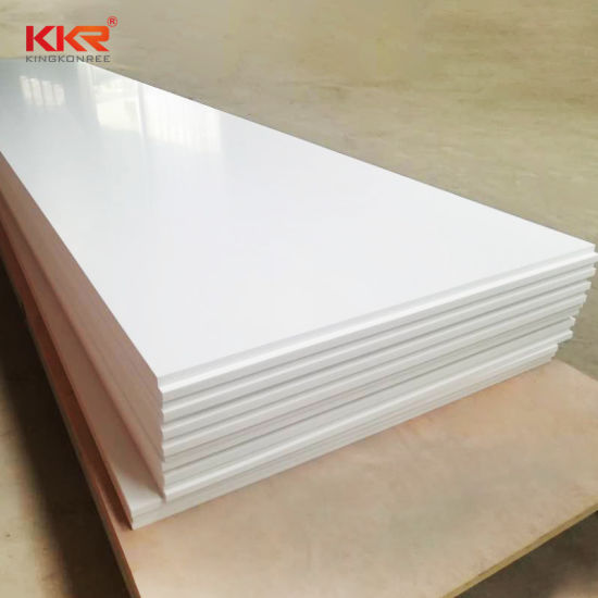 China Snow White Countertop Material Acrylic Solid Surface Corian China Artificial Stone Solid