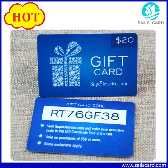 Cr80 Overlay Preprinted Plastic Gift Card pictures & photos