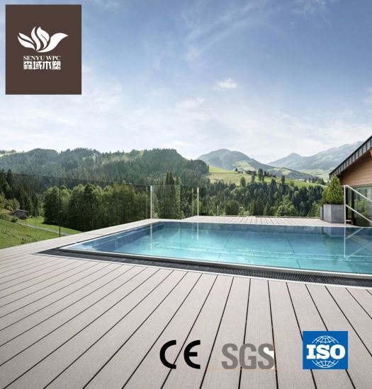 Embossing WPC Plastic Wood Decking for Outdoor