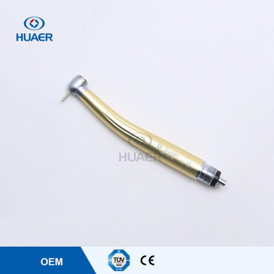 Push Button Anti-Retraction Colorful High Speed Dental Turbine Handpiece pictures & photos