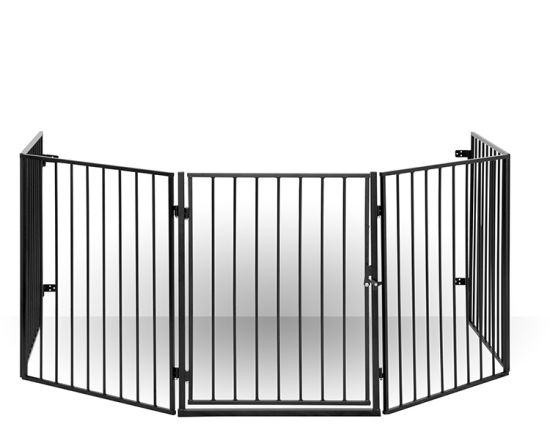 China Baby Pet Dog Extra Wide Safety Metal Gate Playpen Indoor