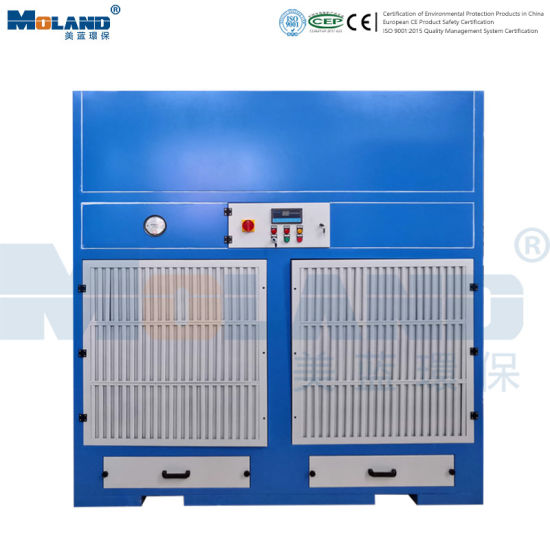 Side Suction Type Industrial Grinding Vacuum Cabinet Dust Fume Collector