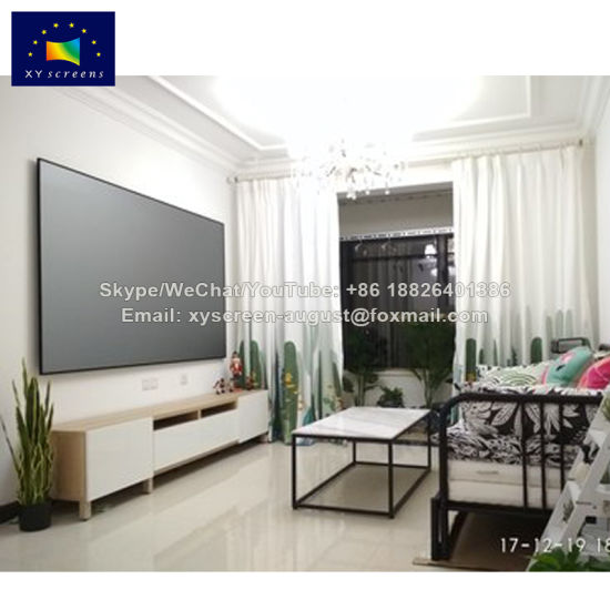 China 130 Inch Edgeless Ambient Light Rejecting Fixed Frame ...