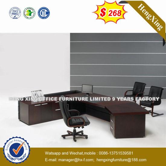 Guang Dong Standing Workstation Oak Color Executive Desk Hx G0448