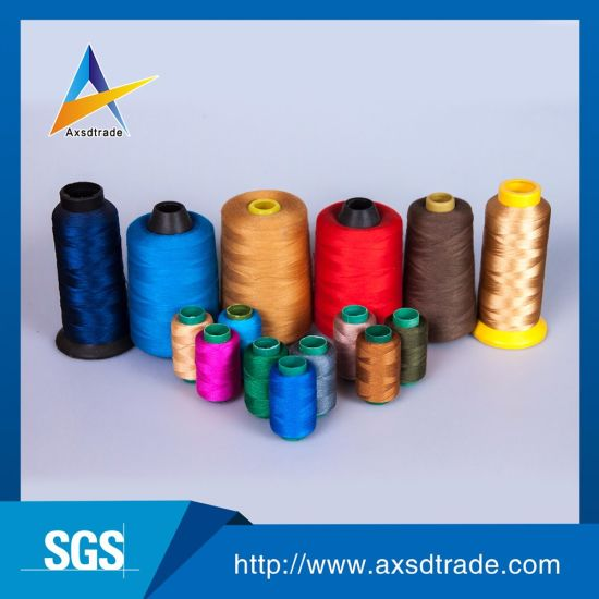 20s/2 100% Spun Polyester Embroidery Sewing Thread for Jeans pictures & photos