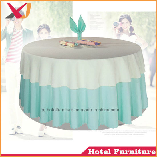 China Factory Custom Banquet Jacquard Table Cloths Round Wedding Table Cover