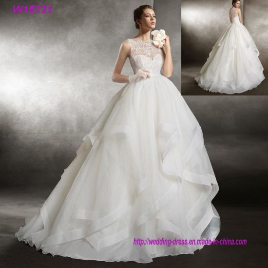 China Bridal Gowns Layers Ruffles Tulle OEM Wedding Dress - China ...