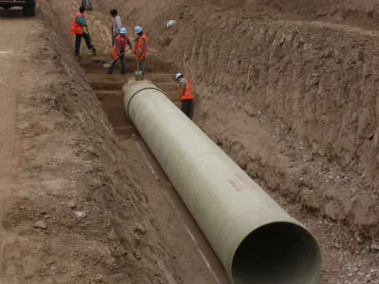 Underground FRP GRP Pipe Tube Cylinder Factory pictures & photos