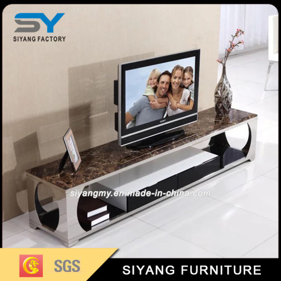 Home Furniture Matble MDF Top TV Stand for Hotel pictures & photos