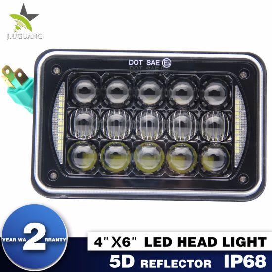 Super Bright Rectangle 4 X 6 Inch Automotive LED Headlights