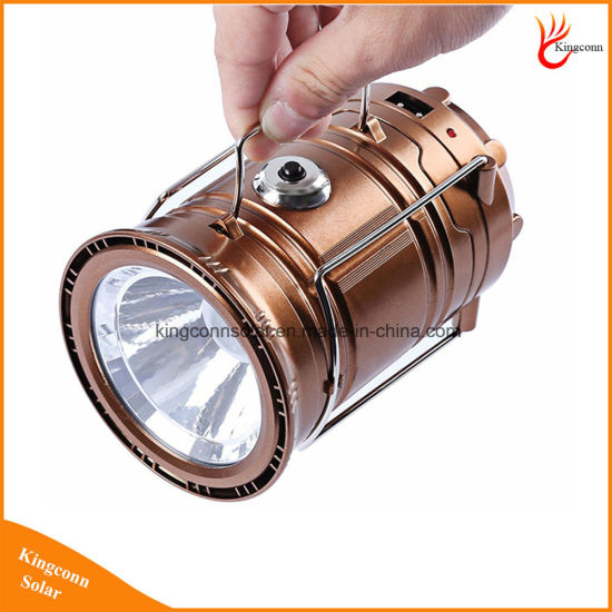Solar Light Rechargeable Portable Mini Solar Flashlight 6 Bright LED with Staninless Lamp Hand pictures & photos