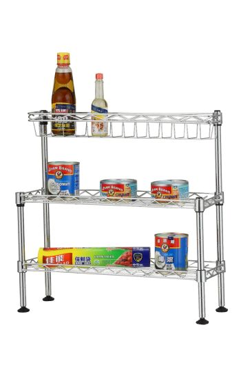 Mini Chrome Metal Wire Kitchen Sink Rack (CJ C1182)