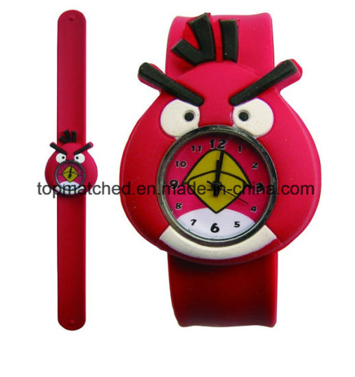 Slap on Silicone Watches for Kids Teenager pictures & photos