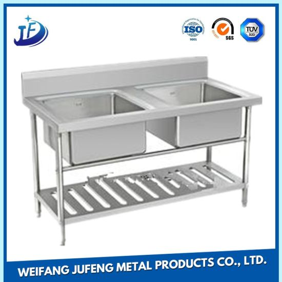 Customized Precision Alloy Stamping Metal Double Bowl Small Stainless Steel Sink pictures & photos