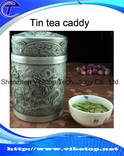 High Quality Unique Carved Chinese Tin Tea Caddy pictures & photos