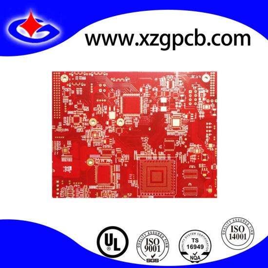 Main Board PCB Security Surveillance PCB with Red Mask