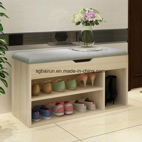 Door Rotating MFC Shoe Cabinet Living Room Furniture