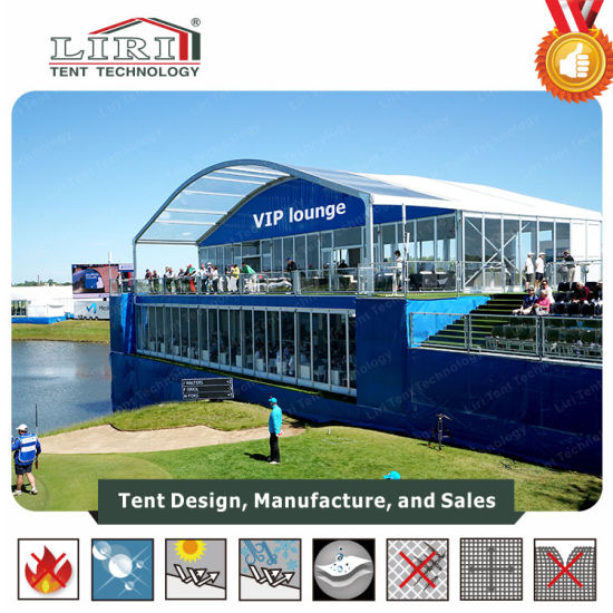 White Fire Retardant 10X 10m Aluminum Double Decker Tents Meeting Room, Temporay Office for Sale pictures & photos