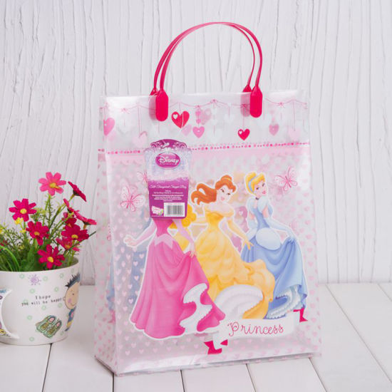 Customized Printed Plastic Gift Shopping Handle Bag (PVC bag)