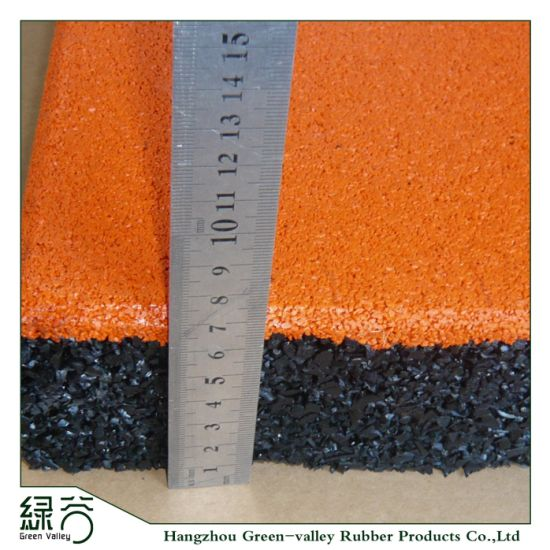 High Quality Ce En1177 Certificated Colored Surface Rubber Flooring Mat for Playground