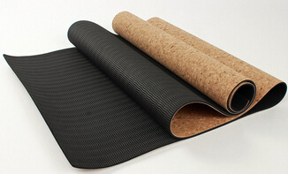 Anti-Tear Durable Cork Yoga Mat 5mm Thickness with Custom Graphic Printing. pictures & photos