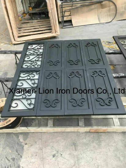 Wholesales Sectional Steel Door Wrought Iron Garage Door Design pictures & photos
